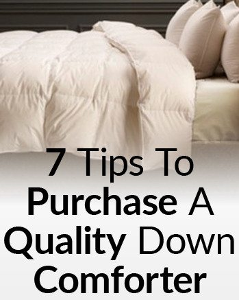 buying a quality down comforter