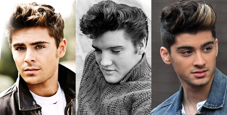 the quiff - hairstyle for big forehead male.