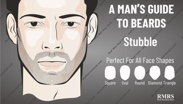 stubble facial hair style
