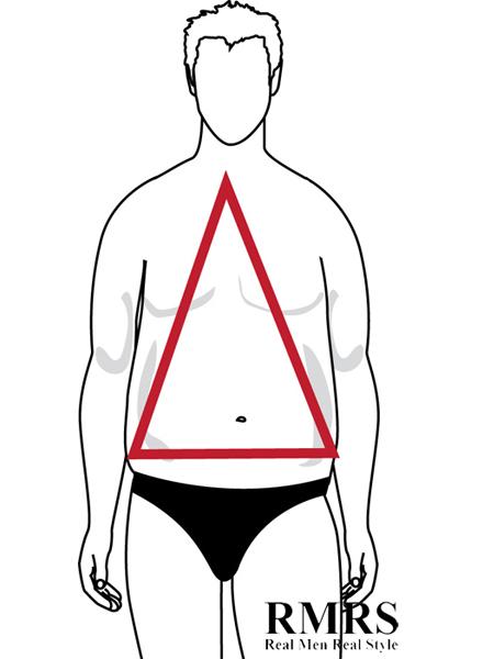 Triangle Male Body Shape