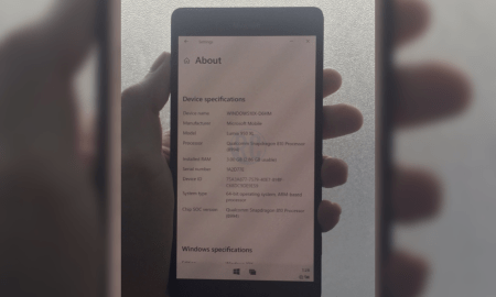 Windows 10 ARM image of Lumia 950/XL