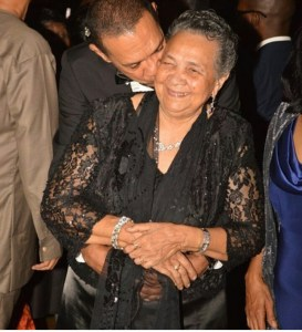Ben Murray Bruce and his Mum