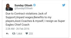 Sunday Oliseh