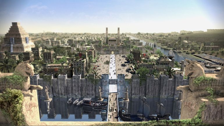 The ancient city of Babylon in 3D  Gorgeous_3D_animation_Babylon_ancient_Mesopotamia_1