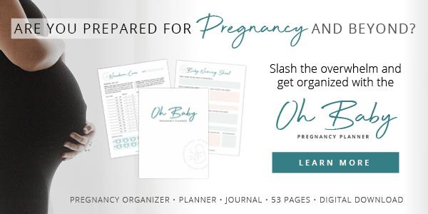 Oh Baby Pregnancy Planner promo banner