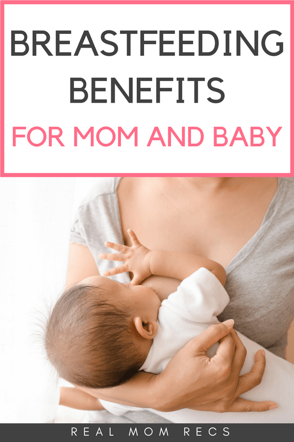 Breastfeeding benefits for mom and baby