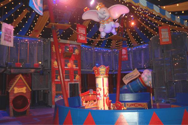 Dumbo queue play area