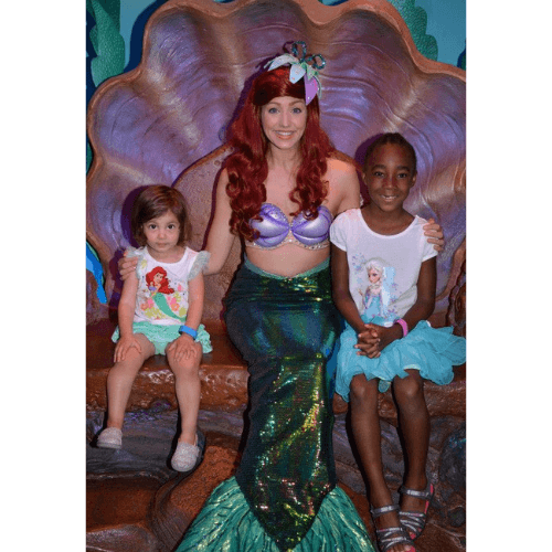 meeting Ariel in her grotto