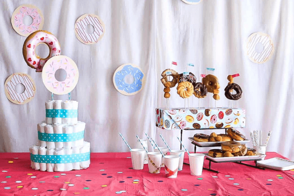 doughnut theme shower