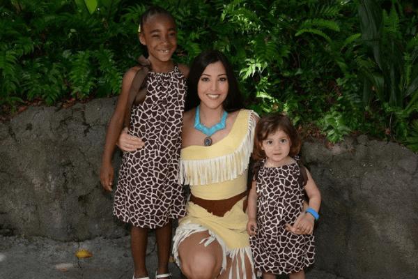 meeting Pocahontas at Animal Kingdom