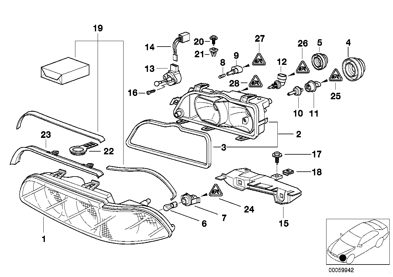 Bmw E36 Front End Part Diagram