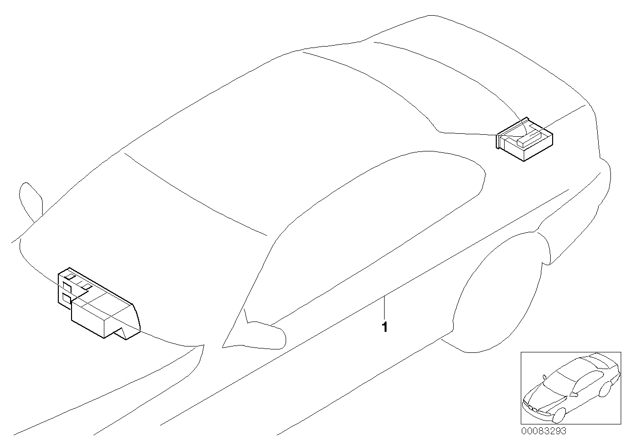Retrofit kit navigation with monitor