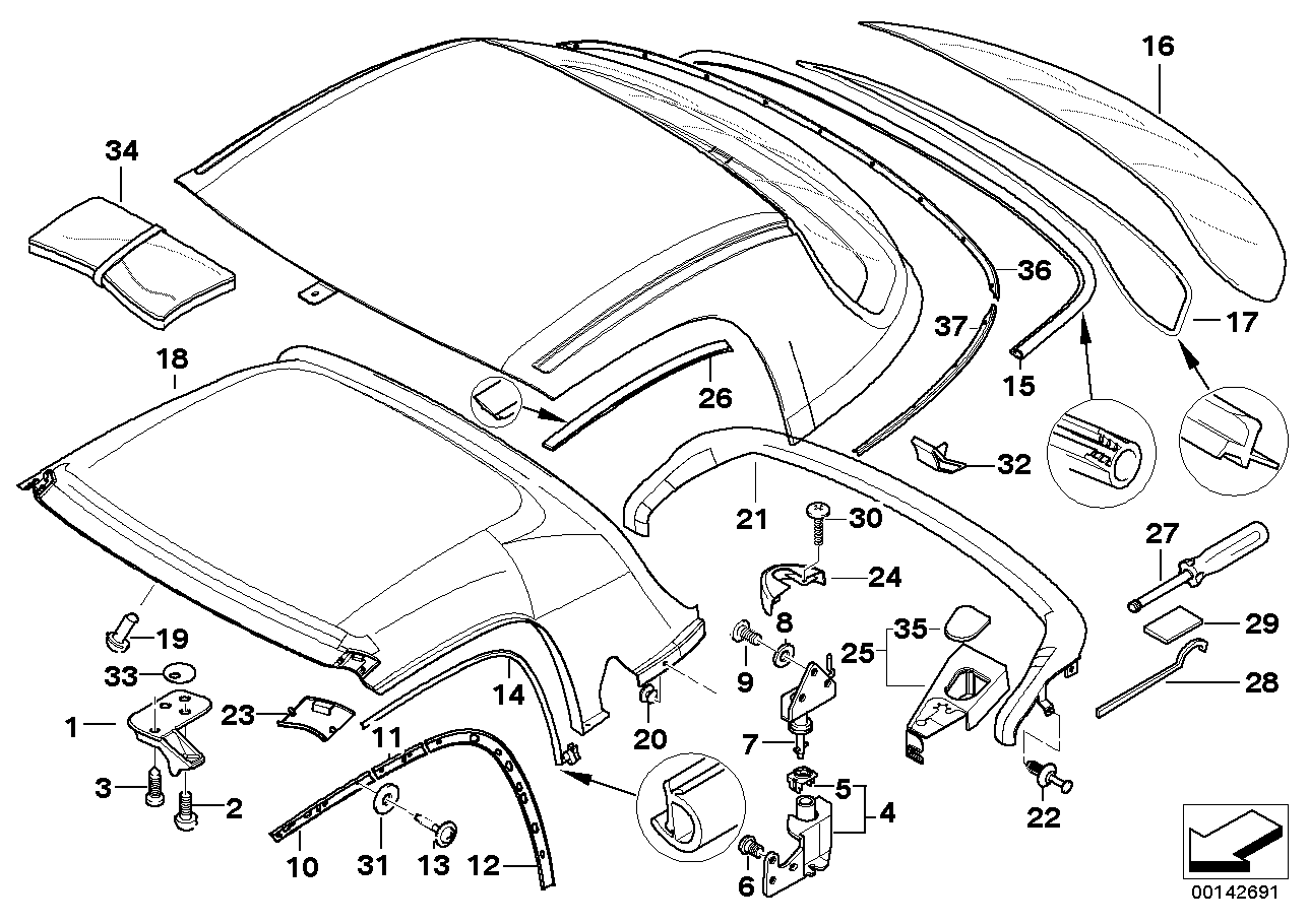 Hardtop parts