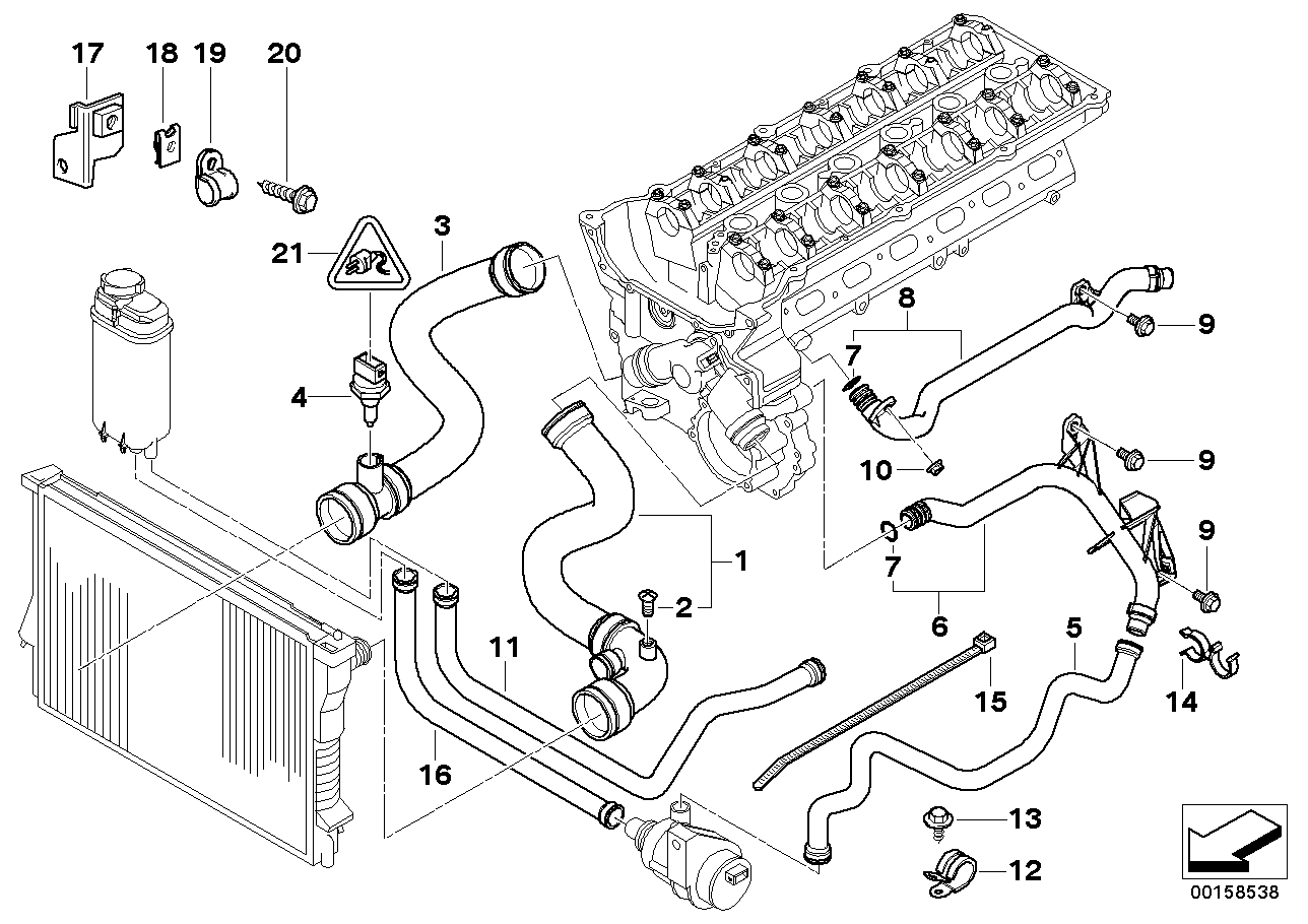 Bmw Engine Cooling Diagram