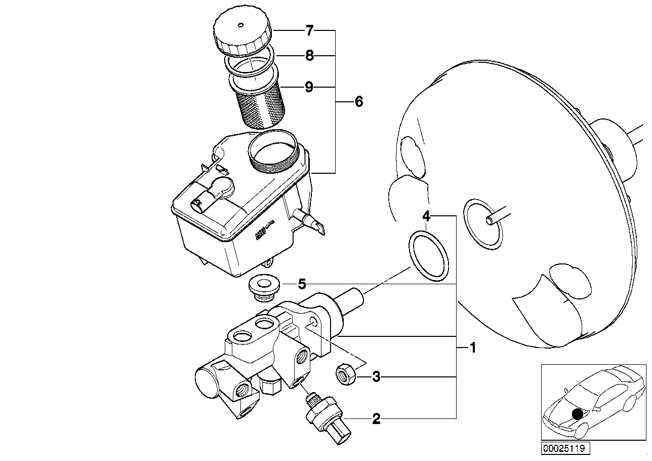 Youan Bmw E36 M3 Master Cylinder