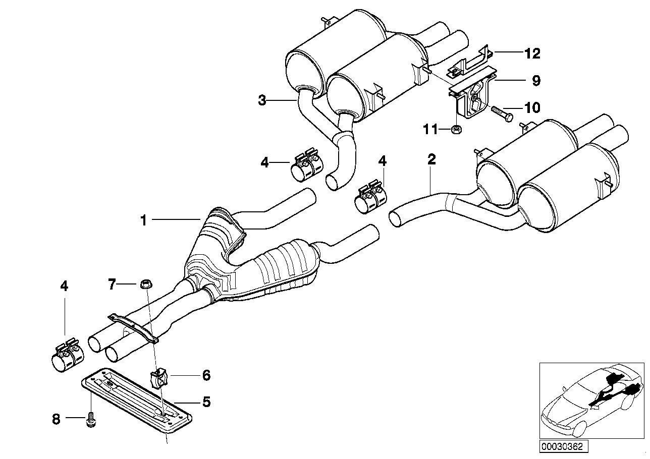 Realoem online bmw parts catalog rh realoem bmw e39 exhaust system bmw e39 540i exhaust diagram