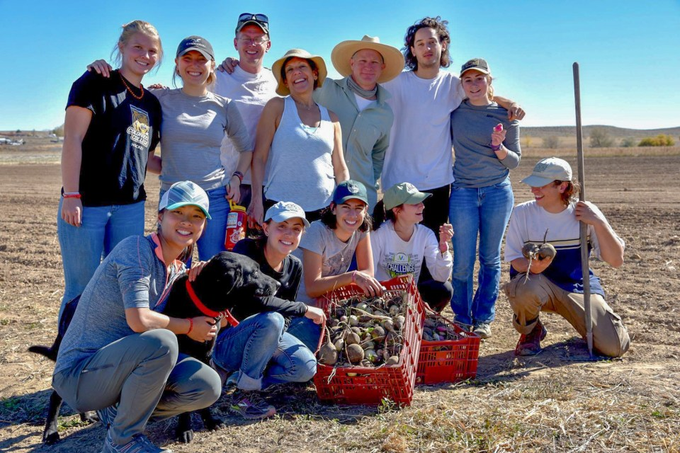 group of young farmers in training at Hobbs and Meyer Farms Colorado