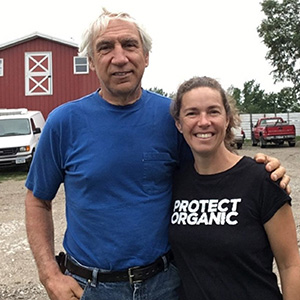 Real Organic Project Board Members Francis Thicke and Linley Dixon at Radiance Dairy in Fairfield Iowa