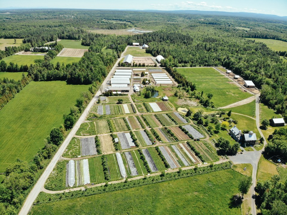 aerial view of La Ferme des Quatre-Temps