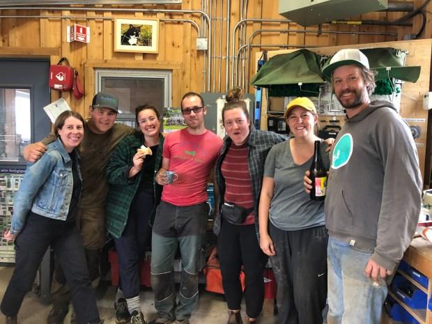 the 2019 farm crew and stars of Les Fermiers with JM Fortier at La Ferme des Quatre-Temps