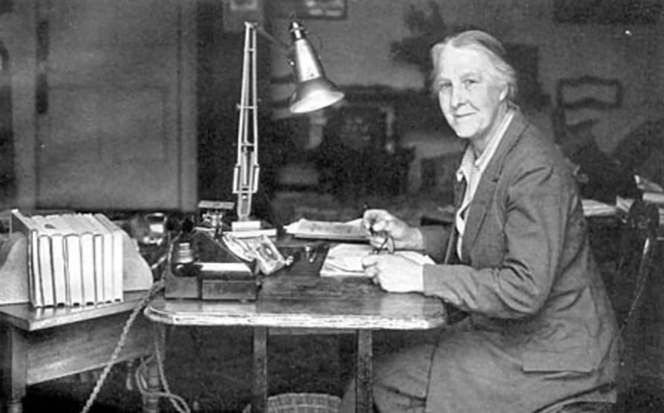 Maye Ellen Bruce at work