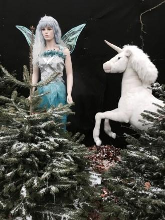 Magical fairy and a unicorn