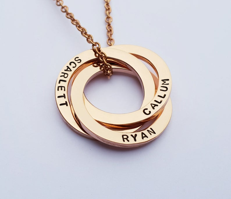 Personalised Linked Circles Necklace