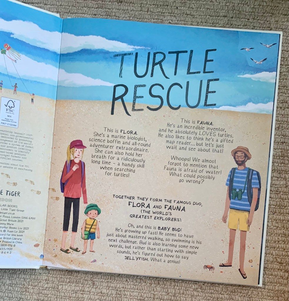 Turtle rescue book inside