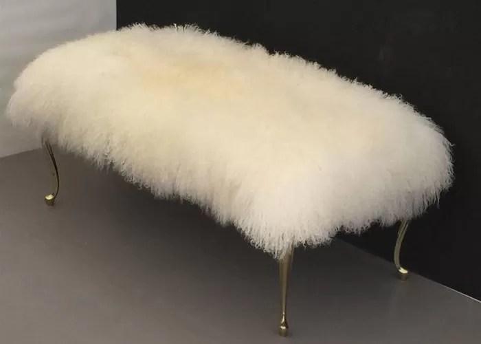 Long Hair Lambskin Rug Natural Curly White Sheep Fur