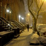 Snow Storm, Night, Brooklyn by Steven Pisano