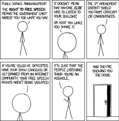 Free speech by XKCD