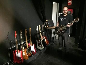 Guitarras en el backstage