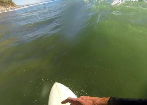 surfing at Mesa Lane