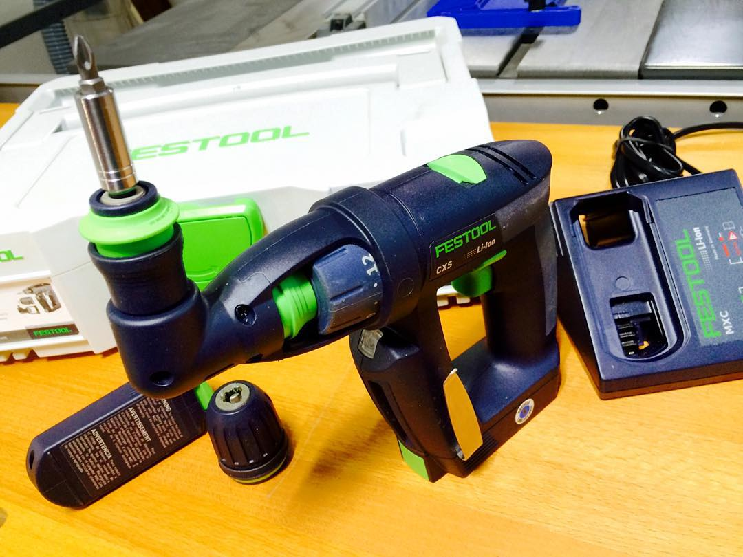 Festool Cxs Compact Drill Driver Set With Right Angle