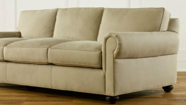 Sock-arm sofa