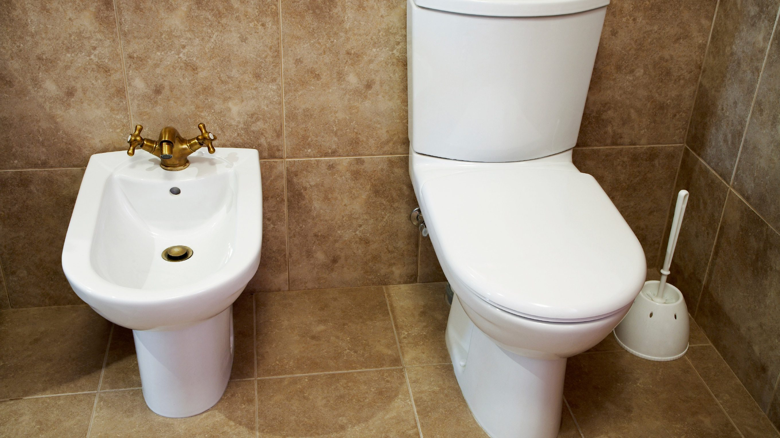 Bidet on the left