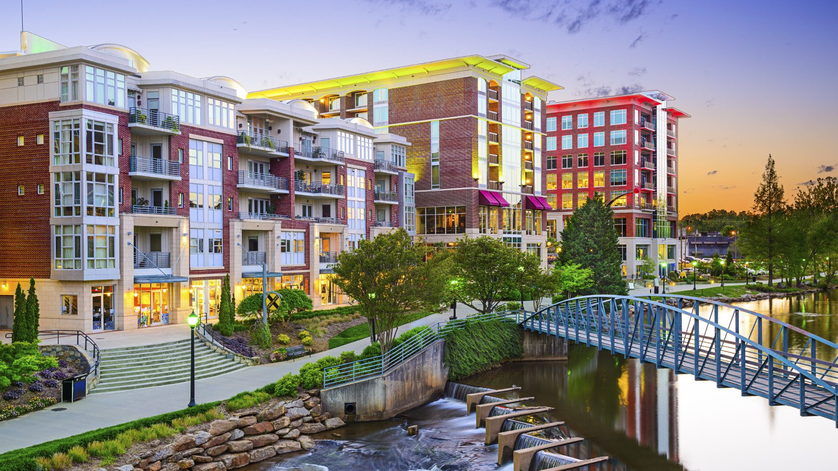 The downtown in Greenville, SC has been revitalized with artist studios and the renovation of a park.