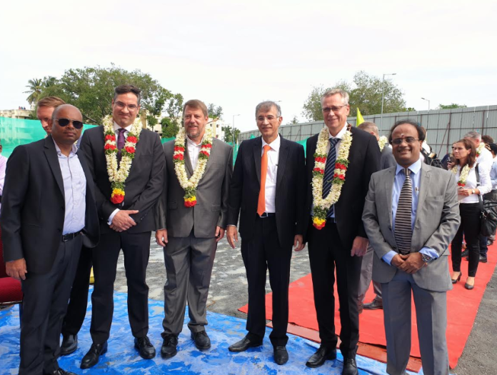 Hiranandani GreenBase and Vestas team at Oragadam, Chennai, for Grounbreaking ceremony of Warehousing & Industrial deal
