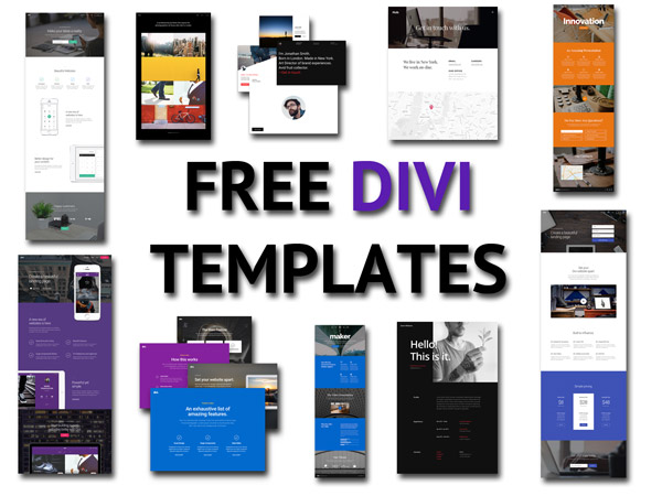 Free Divi Theme Templates! Web Page And Website Templates