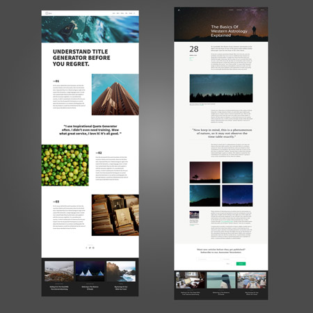 Divi Theme Blog Page Templates Free