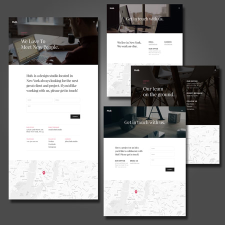 Divi Theme Contact Page Templates Free