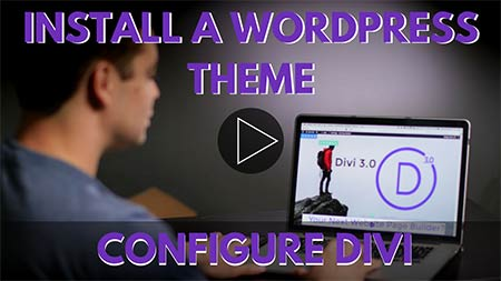 Image text, Install a wordpress theme configure divi