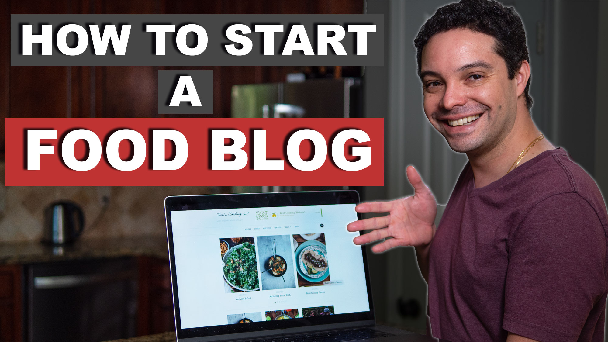 How to start a food blog image