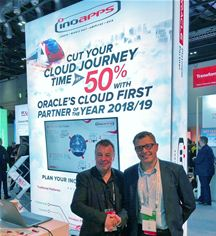 Phil Martin of Rapid4Cloud (left) and Phil Burgess of Inoapps (right) celebrate Global Alliance