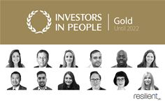 Resilient's Gold Investors in People Gold Standard