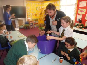 Seed sowing at Greenwards Primary
