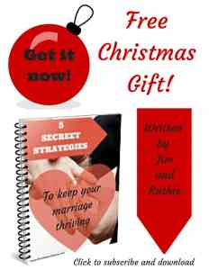 This Christmas! 5 Secret Strategies to keep your marriage thriving!