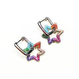 Orecchini stella zirconi colorati