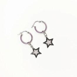 orecchini mini cerchio stella