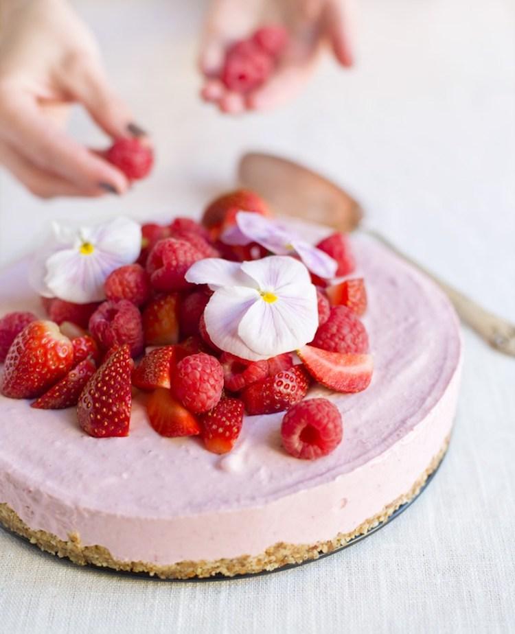 Frozen Pink Cheesecake